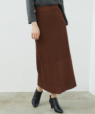 【セットアップ対応】ストライプニットスカート