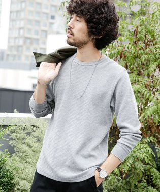 【WEB限定】ジャガードワッフルロングスリーブTシャツ