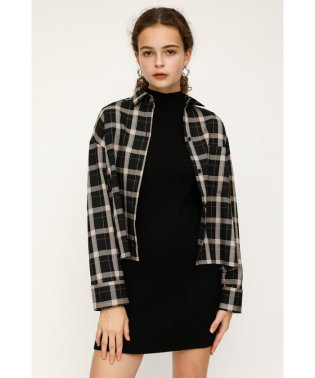 GINNY PLAID CROPPED SH