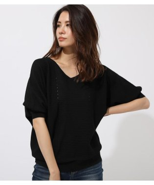 GARTER V/N LOOSE KNIT TOPS