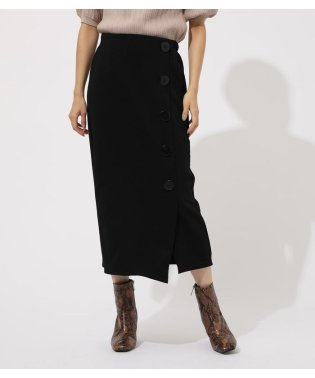 BUTTON TIGHT SLIT PENCIL SKIRT