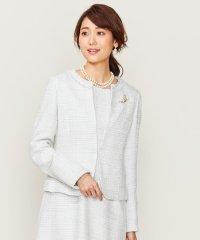 【セットアップ対応】ラメループモールツイード カラーレスジャケット