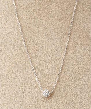 18KWG 0.2ct ダイヤモンド ネックレス H&C