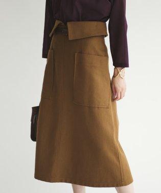 〔ハンドウォッシャブル〕SMF HW COツイル ベルトAラインスカート