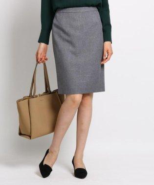 【マシンウォッシュ/UV】バックスリットツイルタイトスカート