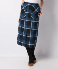 【雑誌掲載】【洗える】ドライウールオックス チェックタイトスカート