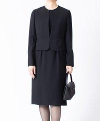 【オールシーズン・喪服・礼服・フォーマル用】二重織りノーカラーアンサンブル