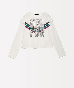 ガールパワーショルダーフリルTシャツ・カットソー