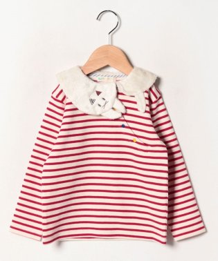 ねこ衿ボーダーTシャツ
