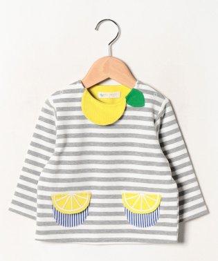 【セットアップ対応商品】ミニ裏毛 レモンボーダープルオーバー