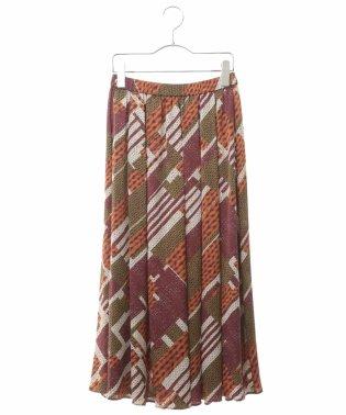 【洗濯機で洗える】サテンニットプリントスカート