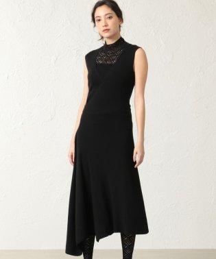 【La Maglia】アシンメトリーニットドレス