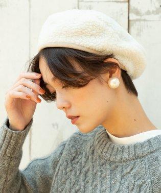 リバーシブルボアベレー帽
