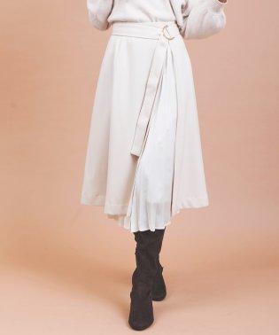 プリーツレイヤード風スカート
