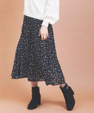 小花柄デシンフレアスカート