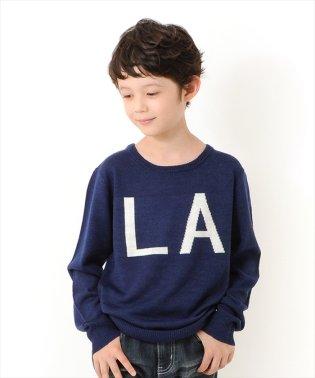 ハイゲージ・ロゴ編みセーター