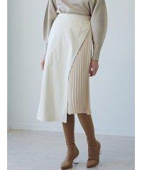 フェイクレザーレイヤードスカート
