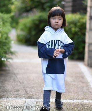 【WEB限定・coen キッズ/ジュニア】Champion(チャンピオン)フーデッドラグランワンピース