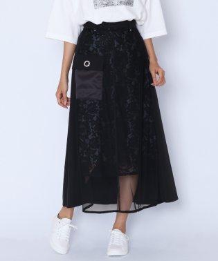 [RADIATE]レース×チュール 異素材スカート