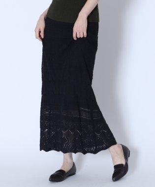 [RADIATE]クロシェ編みニットスカート