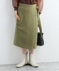 【08 SIRCUS/08サーカス】  Wool hard milled wrap skirt:スカート