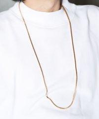 ゴールドネックレス / ネックレス メンズ シンプル カップル ペア