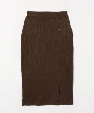 サイドボタンニットスカート