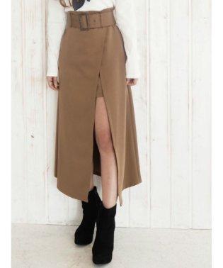レイヤードラップフレアスカート