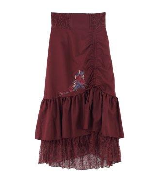 刺繍入りドロストスカート
