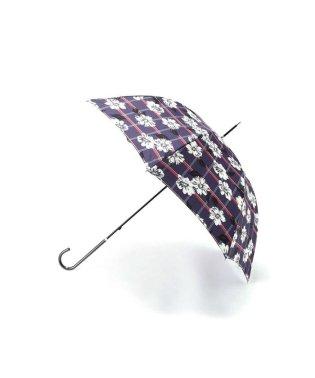 チェックオンフラワーアンブレラ 長傘