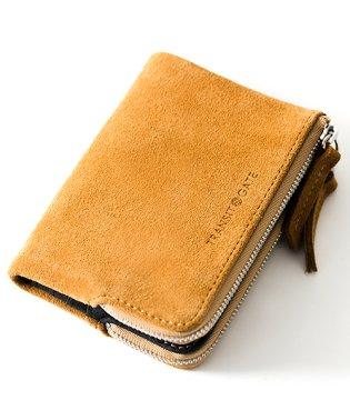TransitGate G5 スエード ダブルジップ二つ折り財布 ウォレット