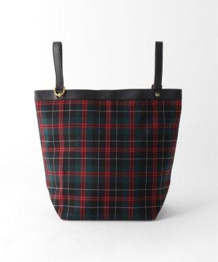 【BAGSINPROGRESS】 PLAID サイドハンドルトートバッグ