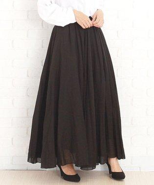 韓国ファッションレディースマキシスカートさらふわボトムス涼しい麻綿混合【vl-5204】【S/S】