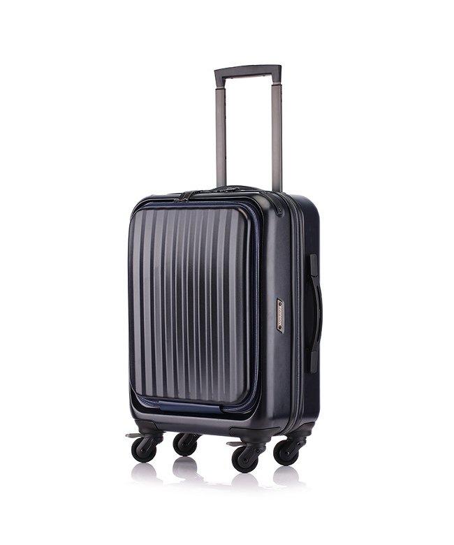 (KABANNOSELECTION/カバンノセレクション)サンコー スーツケース 機内持ち込み 34L フロントオープン 軽量 SUNCO mdlz−47/ユニセックス ネイビー