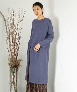 ロングスリットチュニックセーター