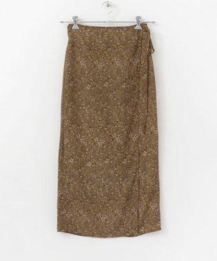 レトロプリントラップスカート