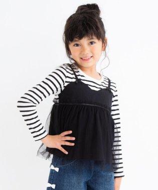 ボーダ―天竺キャミ付きTシャツ