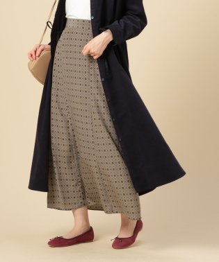 小紋柄ロングスカート