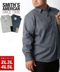【SMITH'S AMERICAN】スミスアメリカン 大きいサイズ ヒッコリー ワークシャツ 春