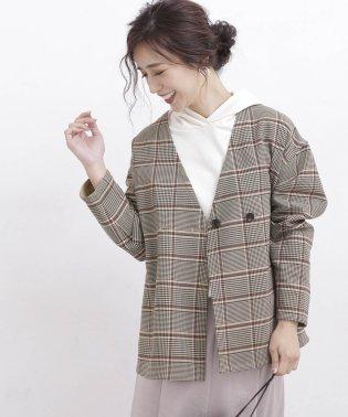 【WEB限定】リバーシブルチェックジャケットコート