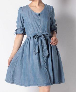 BOW DRESS BLUE CHAMBRAY 3.7