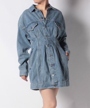 LMC DENIM TRUCKER DRESS LMC SILVER TIP F