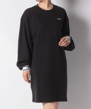 LS SWEATSHIRT DRESS MINERAL BLACK