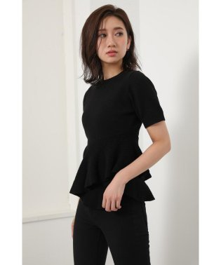Asymmetry Peplum Knit TOP