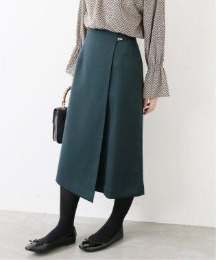 ダブルクロス ラップ風スカート◆