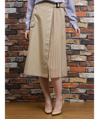 【WEB限定販売】ラップ風カーゴフレアースカート
