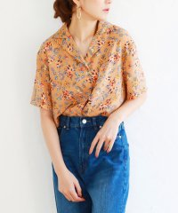 花柄開襟シャツ