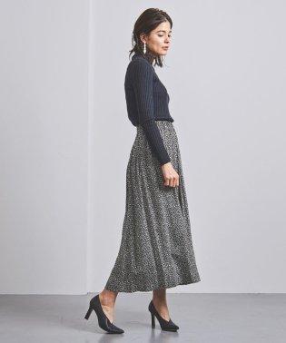 <SACRA(サクラ)>モノトーンプリント スカート