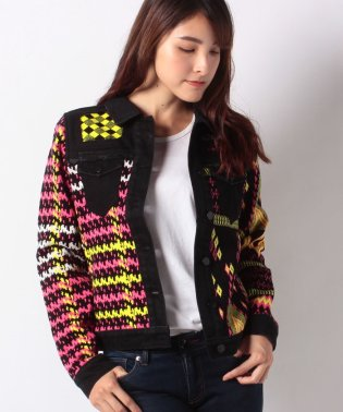 WOMAN FLAT KNIT THICK GAUGE JACKET