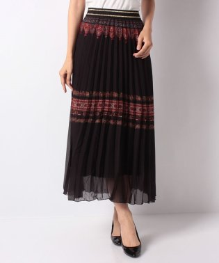 WOMAN WOVEN SKIRT KNEE